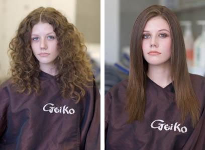 permanent straightening geiko hairdressing